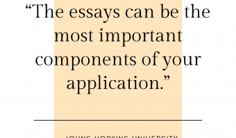 """The essays can be the most important components of your application."""